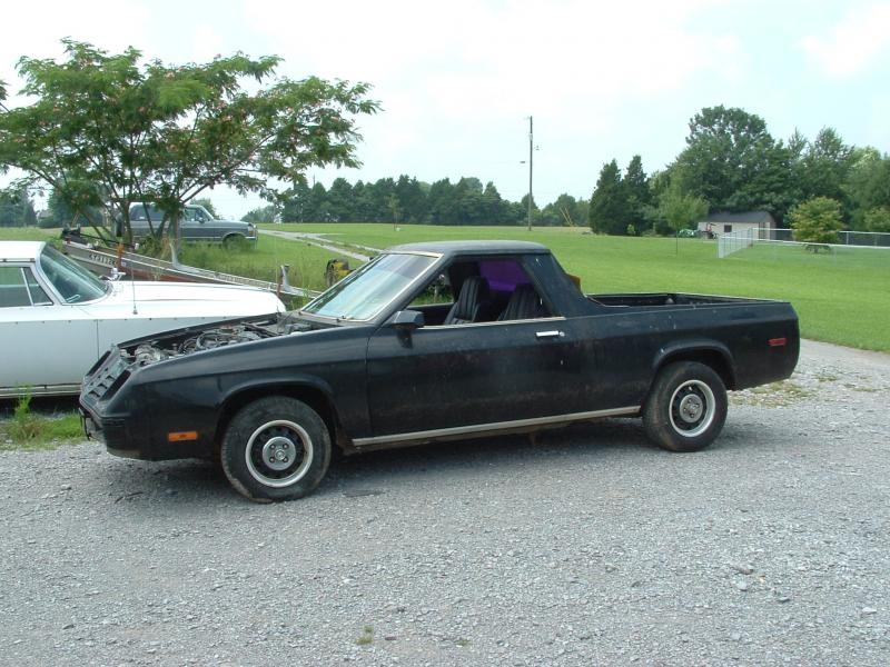 1984 DODGE RAMPAGE. I WOULD LOVE TO MAKE THIS A REAR ENGINE REAR WHEEL DRIVE